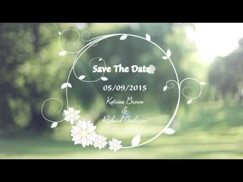 Custom wedding invitation video save the date youtube for Wedding invitation free online for whatsapp