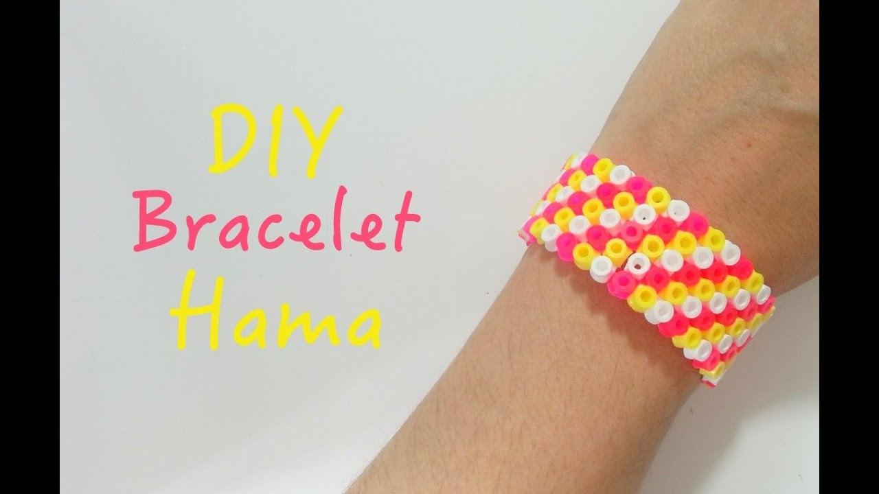 diy faire un bracelet avec des perles repasser hama youtube. Black Bedroom Furniture Sets. Home Design Ideas