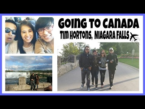 Vlog 21 Going To Canada, Tim Hortons, Niagara Falls
