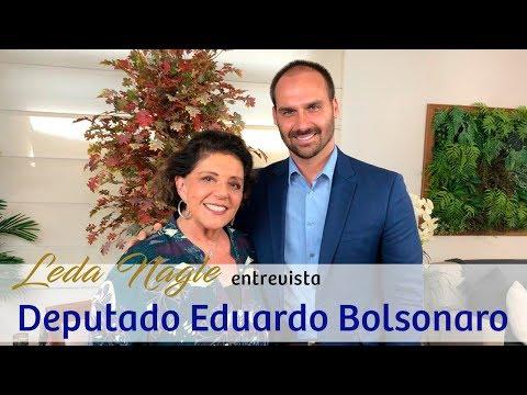 COM A PALAVRA O DEPUTADO FEDERAL EDUARDO BOLSONARO   LEDA NAGLE