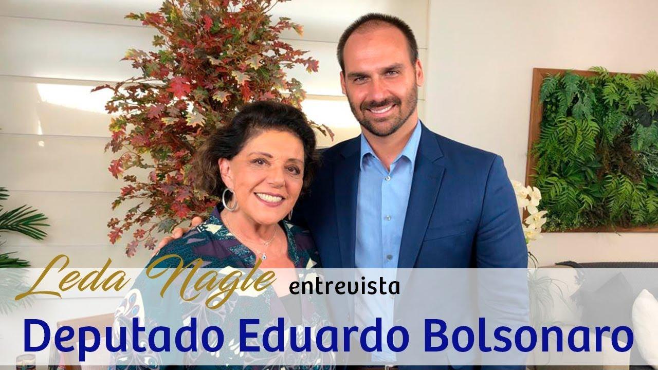 COM A PALAVRA O DEPUTADO FEDERAL EDUARDO BOLSONARO | LEDA NAGLE