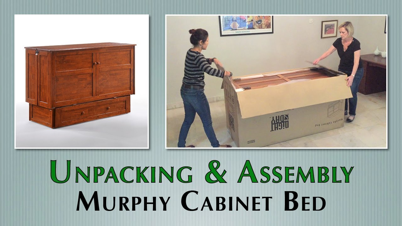 murphy cabinet bed unpacking and assembly