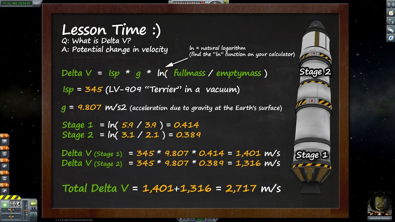 Delta-v Calculations - Kerbal Science (KSP) - YouTube