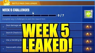FORTNITE SEASON 5 WEEK 5 CHALLENGES LEAKED! WEEK 5 ALL CHALLENGES EASY GUIDE WEEK 5 CHALLENGES!