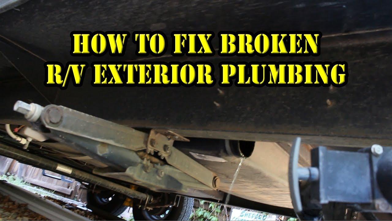 How To Fix Repair Rv Exterior Grey Black Water Tank