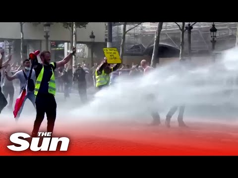 Protesters against covid restrictions in violent clashes with police in Paris