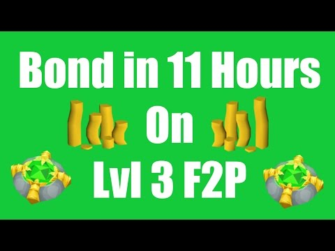 [OSRS] Bond in 11 Hours on a New Level 3 F2P Account - Oldschool Runescape Money Making Guide