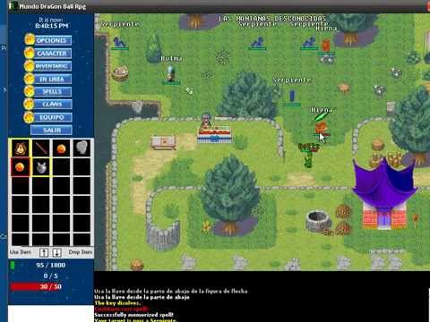 Mundo Dragon Ball Rpg Juego 2d Online 24 7 Youtube
