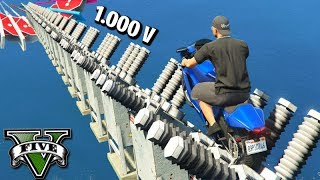GTA V Online: DESCIDA DO CHOQUE 1.000 VOLTS com MOTOS NO MAR!!! DIFÍCIL