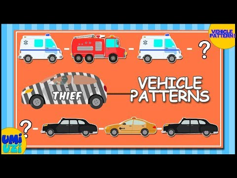 Umi Uzi | Learn Patterns With Police Car & Thief | Pattern Recognition | Educational Video