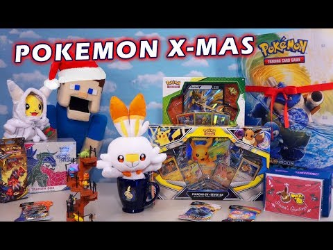 Pokemon HUGE Christmas Sword And Shield Plush Toys & Cards Unboxing! Re-ment Stairs Figures