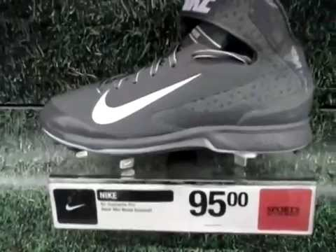 Nike Air Huarache Pro (Mid) Baseball (grey) - YouTube