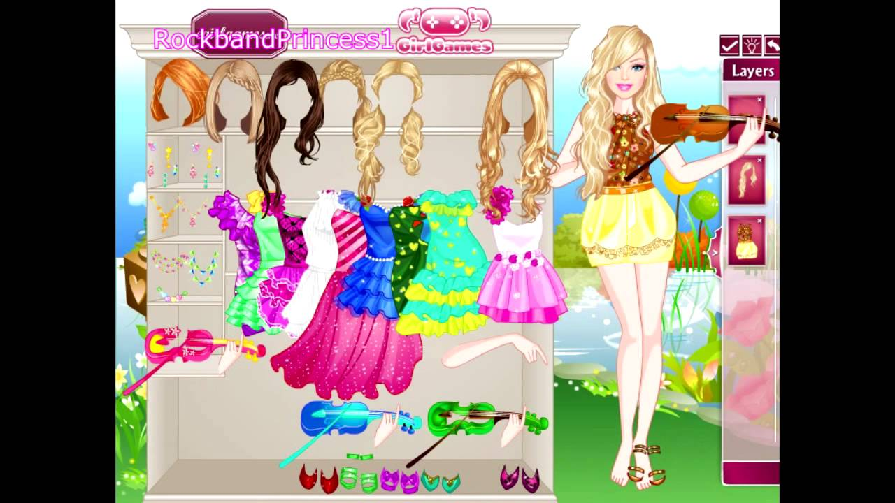 Beautiful barbie dress up fashion games