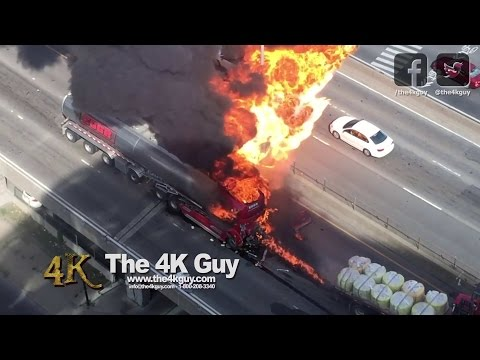 Montreal: Man tries to save trucker after fiery crash 8-9-2016