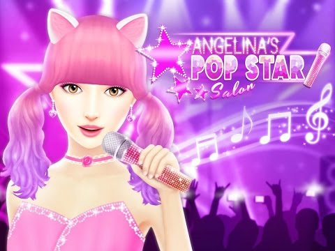 Angelina's Pop Star Salon, Makeu Up, Dress Up, Hairstyle Games, Videos Games for Girls Android