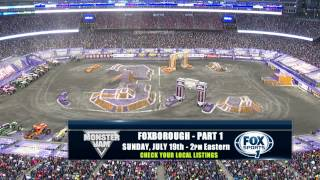 Monster Jam Racing in Foxborough MA at Gillette Stadium on FOX Sports 1 July 17 2015