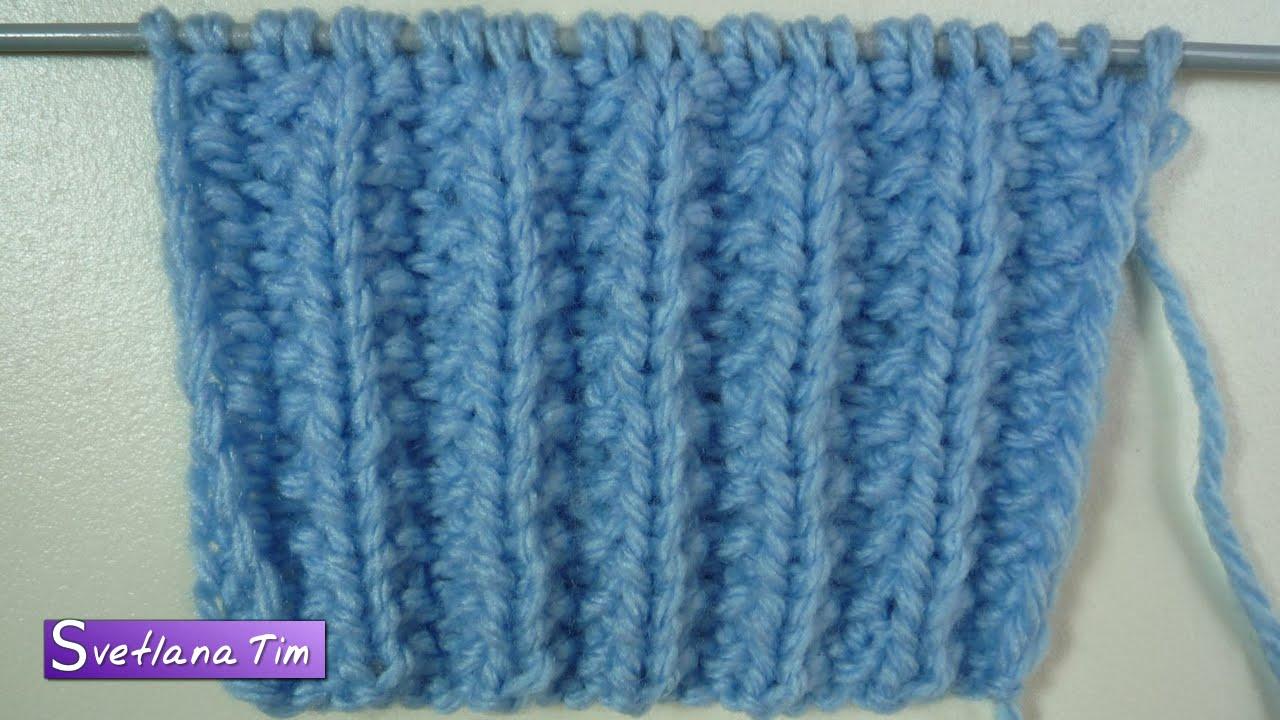 узор французская резинка вязание на спицах 153