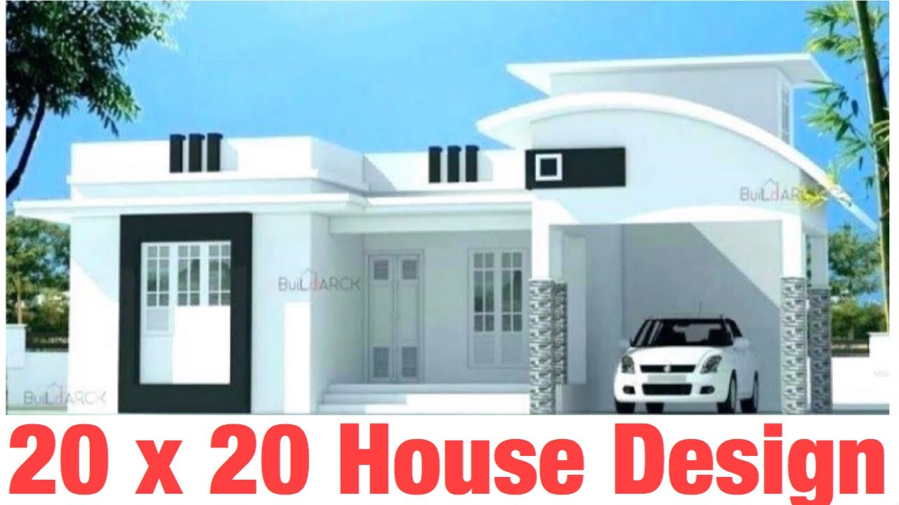 20 X 20 6m X 6m Home Design House Map Plan 2bhk Car Park And Proper Ventilation 45 Gaj Youtube