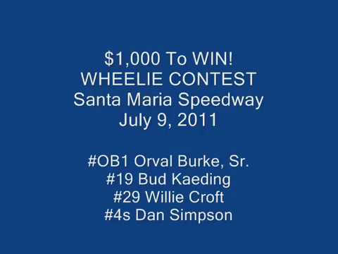 July 9, 2011 - Santa Maria Speedway - Wheelie Contest - $1,000 to win