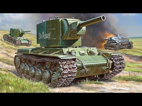 Обзор - КВ-2 Советский тяжелый танк. 1/35 Звезда (3608)