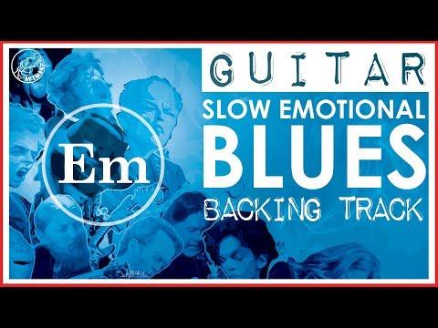 Slow Emotional Blues Backing Track in Em