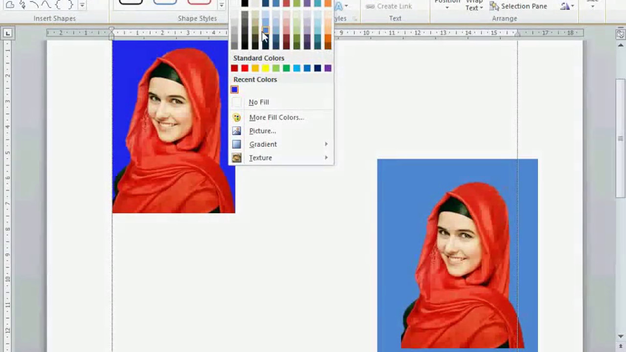 Cara Mengganti Background Photo Dengan Ms Word 2010