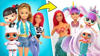 Barbie VS L.O.L. Dolls | Amazing Transformation!