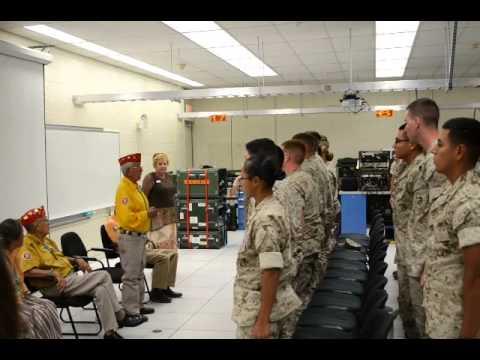 Code Talker Bill Toledo Singing the Marine Corps Hymn in Navajo