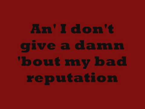 Joan Jett- Bad Reputation Lyrics on screen
