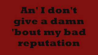 Joan Jett- Bad Reputation Lyrics on screen