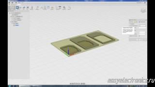 Autodesk Fusion 360. CAM процессор. Создаем программу фрезерной обработки.