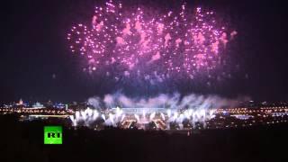 Салют в честь открытия Чемпионата мира по легкой атлетике в Москве