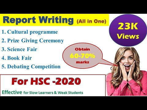 report writing on cultural programme