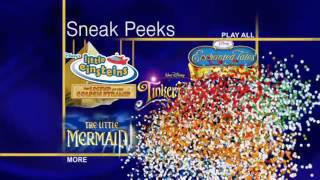 Sneak Peeks Menu from Walt Disnsy Home Entertainment DVD