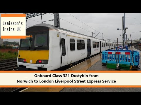 Onboard Class 321 Dustybin from Norwich to London Liverpool Street Express Service