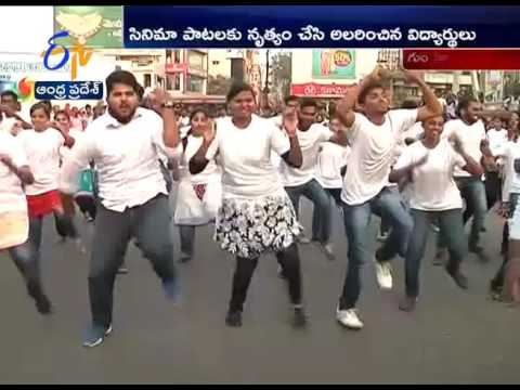 Students Flash mob at Guntur