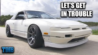 homepage tile video photo for SKETCHY 650HP KA-T 240SX Review! (Subscriber Challenged Me to Break His Car!)