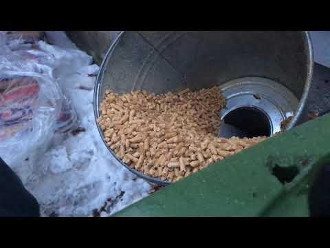 Wood pellet storage funnel