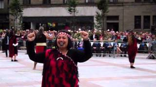 Māori Kapa Haka Dancers Mini Tattoo City Square Dundee Tayside Scotland