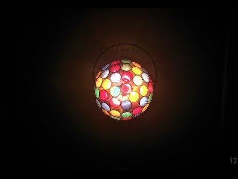 DIY Ceiling hanging Sparkle Ball