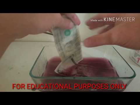 Removing The INK From MONEY Experiment Part 2