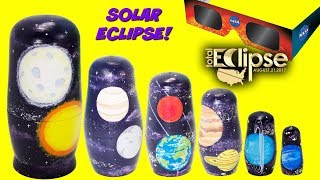 Planets Nesting Dolls SOLAR ECLIPSE Toy Surprises Solar System Nesting Dolls Stacking Cups