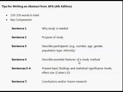 Writing abstracts for research papers