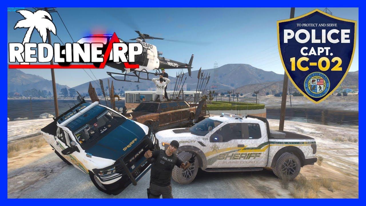 GTA 5 Roleplay - RedlineRP - Monster Death Truck Trolling Feds #109