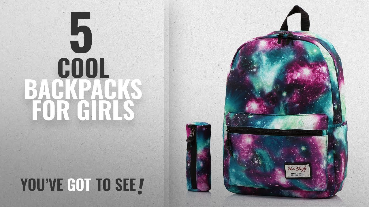 e39c89272ac0 Cool Backpacks For Girls [2018 Best Sellers]: TRENDYMAX Galaxy Backpack  Cute for School | Green