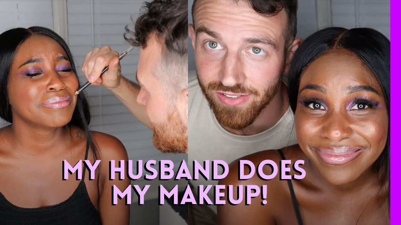 Husband Does My Makeup! | Hanging with the Hamiltons