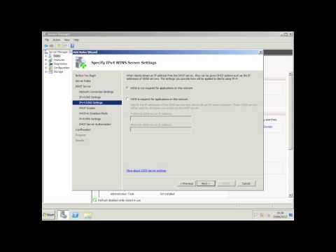 Installing & Configuring DHCP - Windows Server 2008 R2