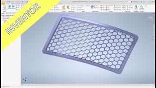 "Hexagon Grill ""easy"" - Inventor 2021 Training - Part Design"