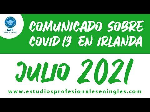 Noticias sobre el COVID-19 en Irlanda para Julio 2021