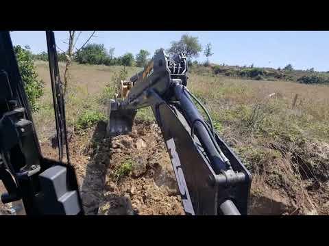 Экскаватор погрузчик MST M644 Plus Работа со скальными грунтами